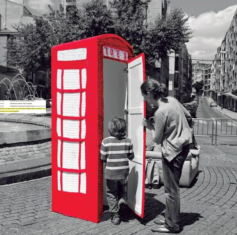 La cabina de teléfono más original, se encuentra en el Barrio del Oeste.