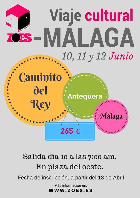 cartel viaje Malaga redes
