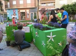 Contenedores vegetales de ZOES en Verde