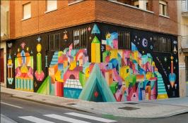 Obra de arte urbano por H101 en Barrio del Oeste