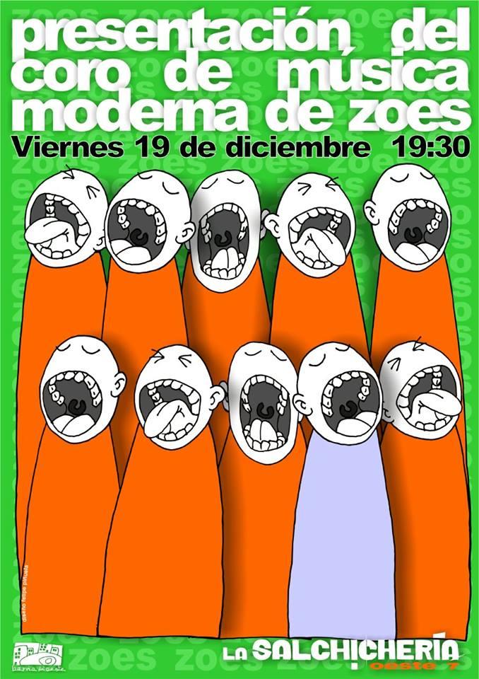 Cartel presentación del Coro. Diseño Felipe Piñuela