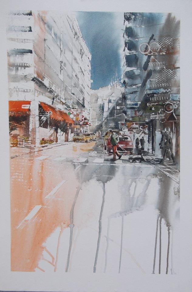 Primer Premio Segundo Concurso Pintura Rápida al Aire Libre. 2014