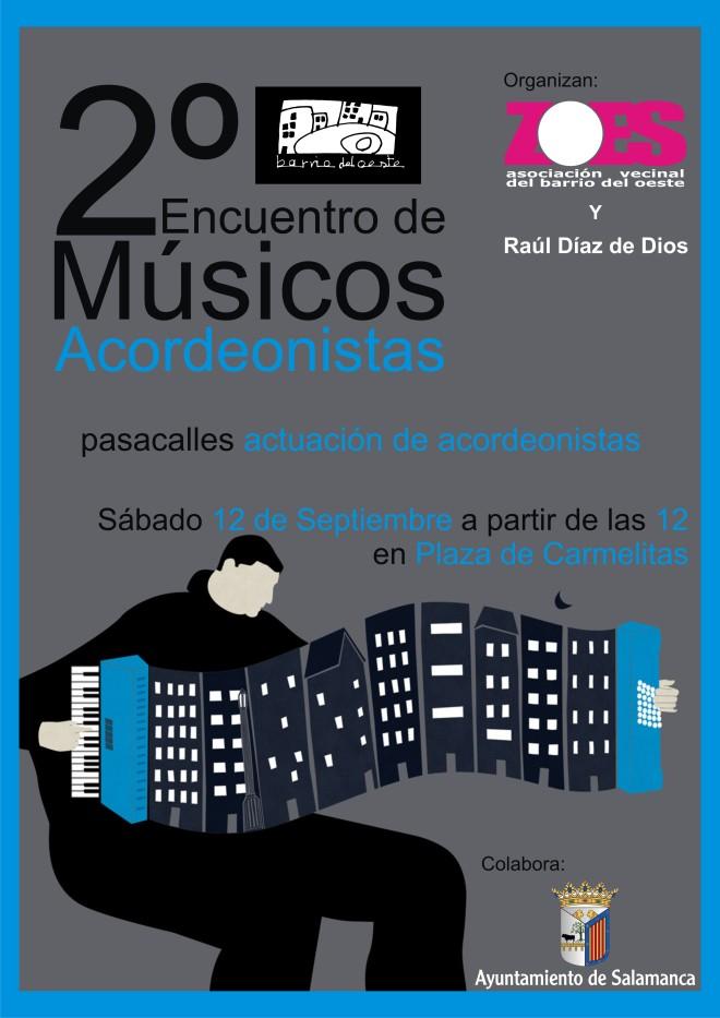 Cartel Anunciador 2º Encuentro Músicos Acordeonistas