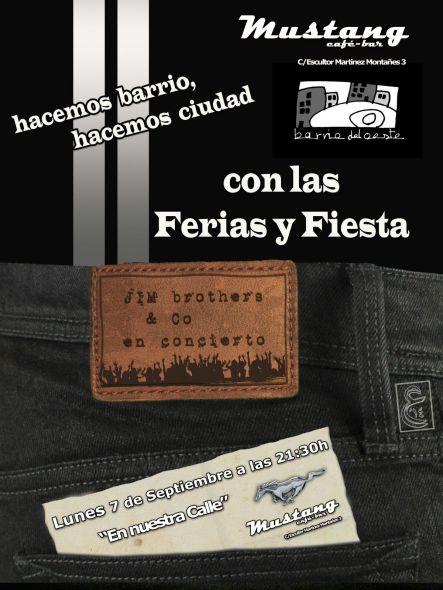 ´Jim Brothers and Co´ de concierto en el Barrio del Oeste.