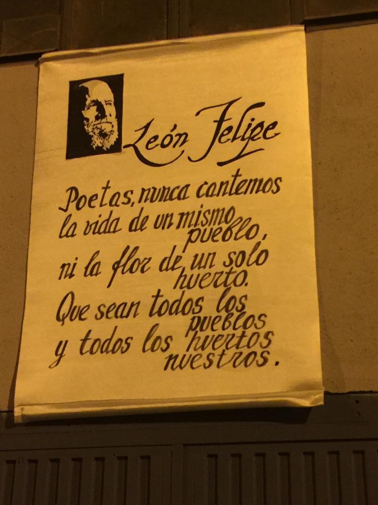 Homenaje al poeta León Felipe