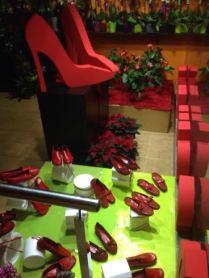 Zapatos Rojos en Floristería Bedunia