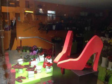 Zapatos Rojos en Floristeria Bedunia