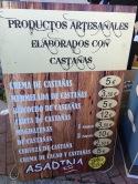 Lista de productos elaborados con castañas