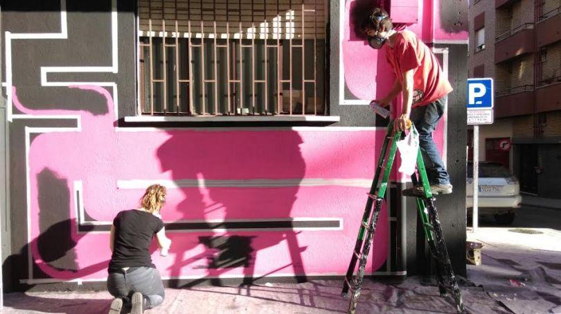 Pistacho crean una obra de arte urbano