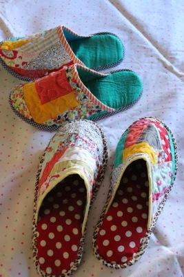 Zapatillas de patchwork