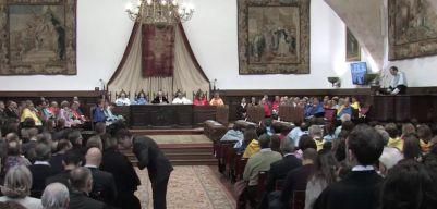 El Paraninfo acogió la conferencia del Profesor Sánchez. Foto:Universidad de Salamanca