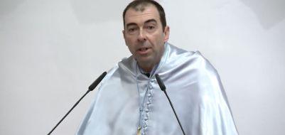 José Luis Sánchez Hernández durante la conferencia. Foto: Universidad de Salamanca